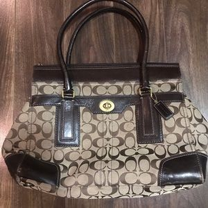 Coach Hampton Signature Carry All Tote